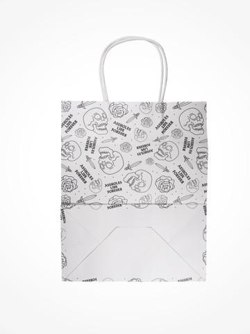 ASSHOLES LIVE FOREVER • White Gift Bag