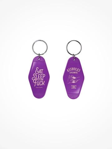 ASSHOLES LOVE MOTEL • Purple Pink Keychain