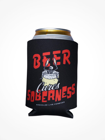 BEER CURES SOBERNESS • Black Coozie