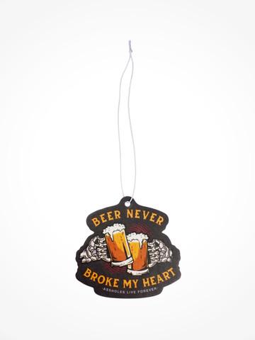 BEER NEVER BROKE MY HEART • Air Freshener