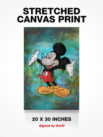BONER MICKEY • Canvas Print
