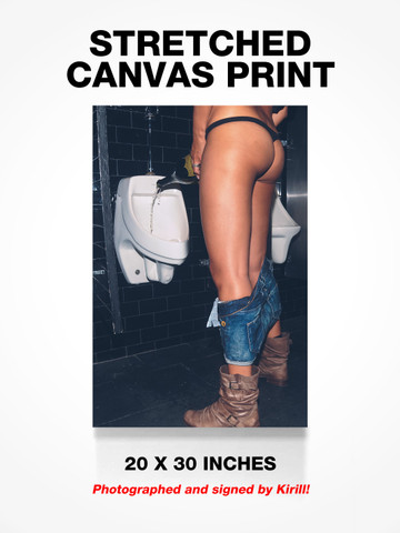CHAMPAGNE PISS • Canvas Print