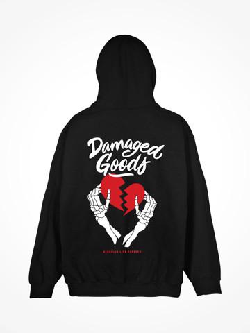 DAMAGED GOODS • Black Hoodie