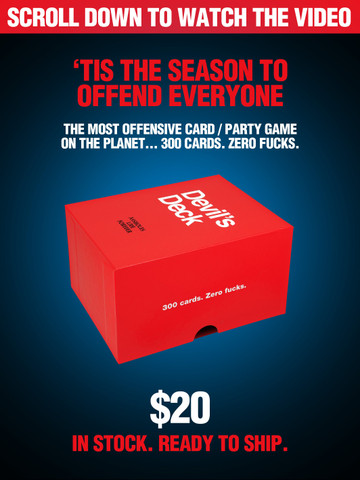 DEVILS DECK • Card Game to Offend the Masses