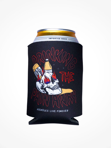DRINKING THE PAIN AWAY • Black Coozie
