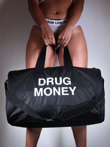 DRUG MONEY • Black Duffle Bag