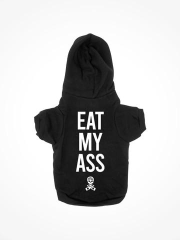 EAT MY ASS • Black Dog Hoodie