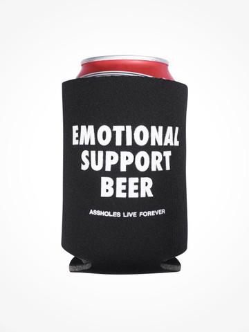 EMOTIONAL SUPPORT BEER • Black Coozie