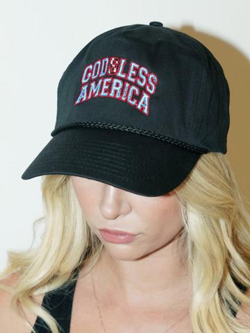 GODLESS AMERICA • Black Snapback