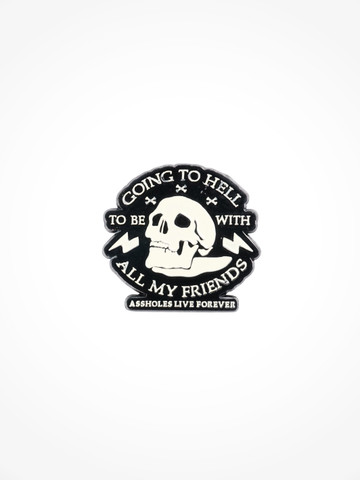 GOING TO HELL TO BE WITH ALL MY FRIENDS • Pin