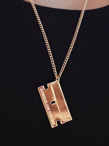 GOLD RAZORBLADE • 36 Inch Necklace