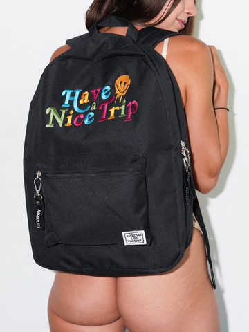 HAVE A NICE TRIP • Black Backpack