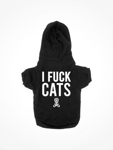 I FUCK CATS • Black Dog Hoodie