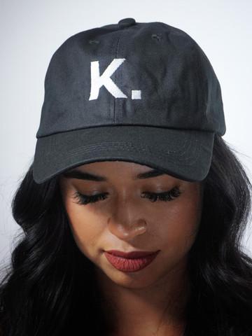 K. • Black Dad Hat