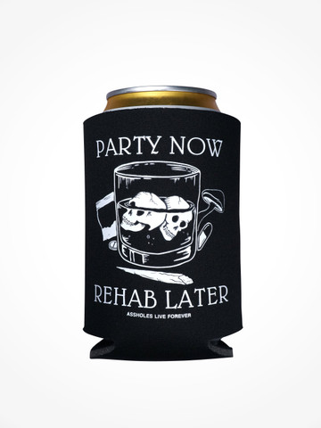 PARTY NOW REHAB LATER • Black Coozie
