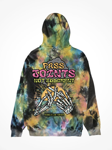 PASS JOINTS NOT JUDGMENT • Universe Tie Dye Hoodie