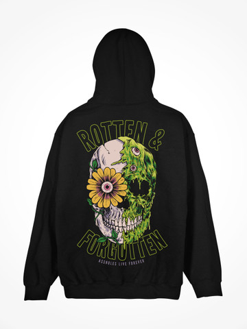 ROTTEN AND FORGOTTEN • Black Hoodie