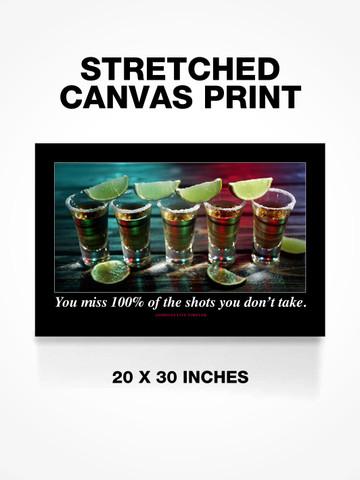 SHOTS YOU DONT TAKE • Canvas Print