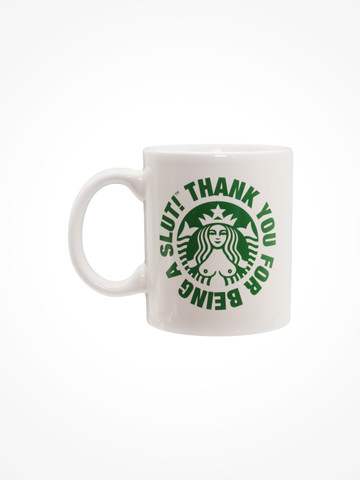 SLUTBUCKS • White Mug