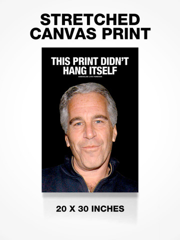 THIS PRINT DIDNT HANG ITSELF • Canvas Print