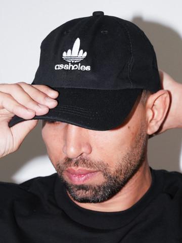 THREE STRIPE ASSHOLES • Black Dad Hat