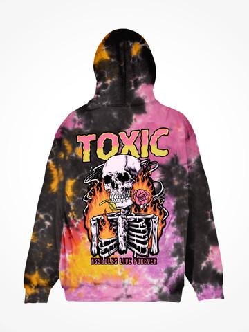 TOXIC SKELETON • Sunset Tie Dye Hoodie