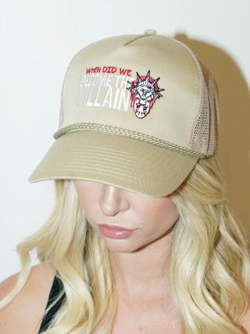 VILLAINS • Tan Trucker Hat