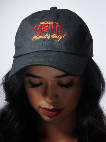 WELCOME TO HELL MEMBERS ONLY • Black Dad Hat
