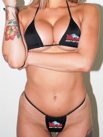WHORES DONT GET COLD • Black Bikini Set