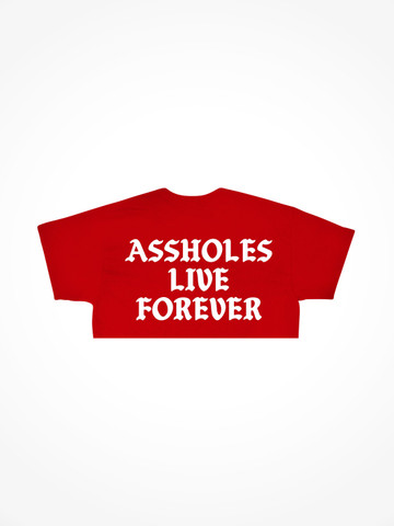 ASSHOLES LIVE FOREVER • Red Crop Tee