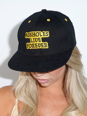 ASSHOLES LIVE FOREVER • Black And Yellow Snapback