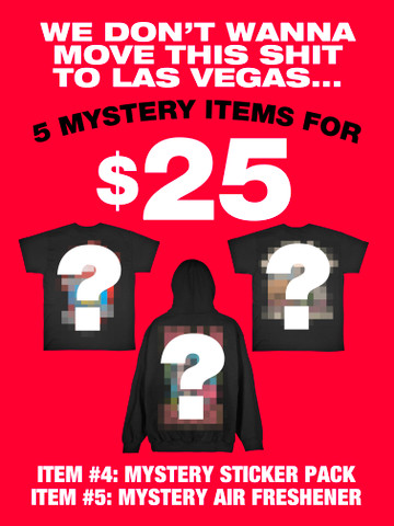 5 ITEMS FOR 25 DOLLARS • Mystery Box