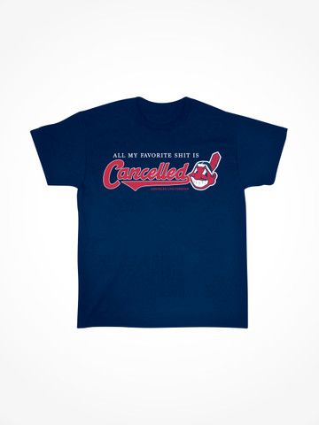 INDIANS CANCELLED • Navy Tee