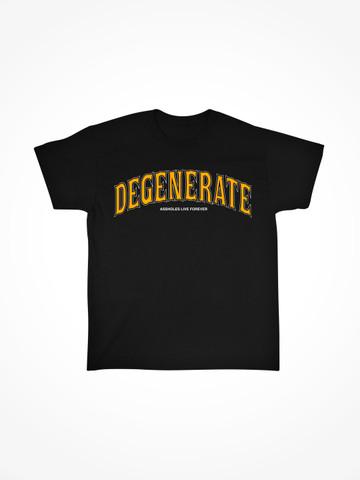 DEGENERATE • Black Tee