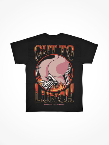 OUT TO LUNCH • Black Tee