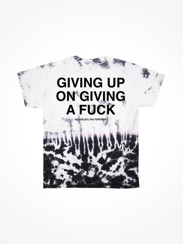 GIVING UP ON GIVING A FUCK • Oil Drip Tie Dye Tee