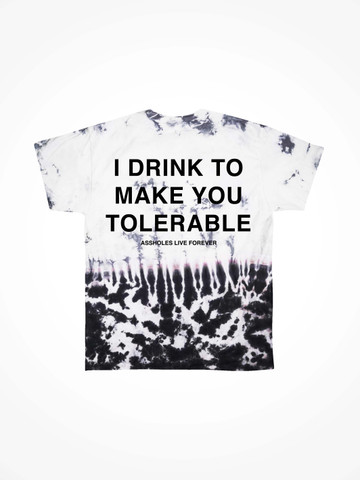 I DRINK TO MAKE YOU TOLERABLE • Oil Drip Tie Dye Tee