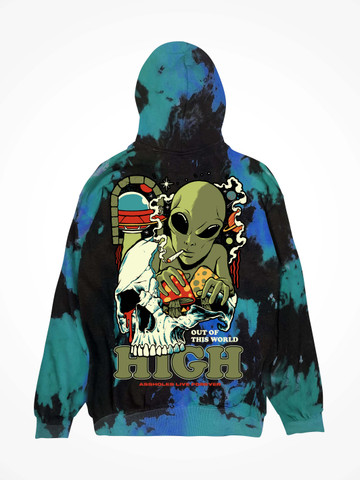 OUT OF THIS WORLD • Aqua Tie Dye Hoodie
