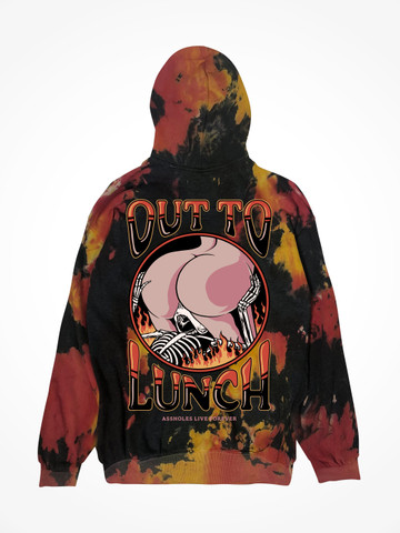 OUT TO LUNCH • Hellfire Tie Dye Hoodie