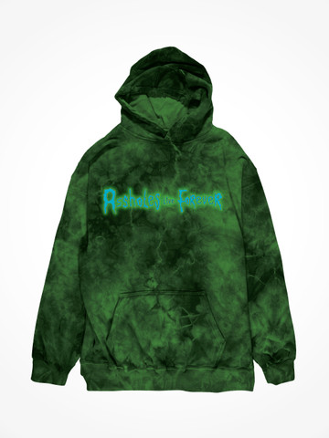 ALF SCIENTIST • Green Dreams Tie Dye Hoodie