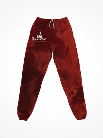 DEADLY WORLD • Blood Spatter Tie Dye Sweatpants
