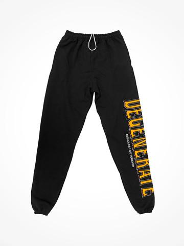 DEGENERATE • Black Sweatpants
