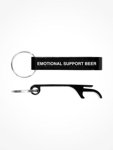 EMOTIONAL SUPPORT BEER • Black Bottle Opener