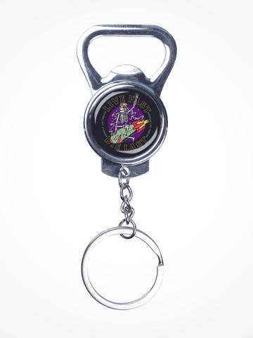 LIVE FAST DIE LAST • Silver Bottle Opener Keychain