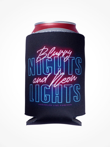 BLURRY NIGHTS AND NEON LIGHTS • Black Coozie