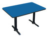 Cafe and Breakroom Table w T-Bases in Red (30 in. x 60 in./Gray Granite)