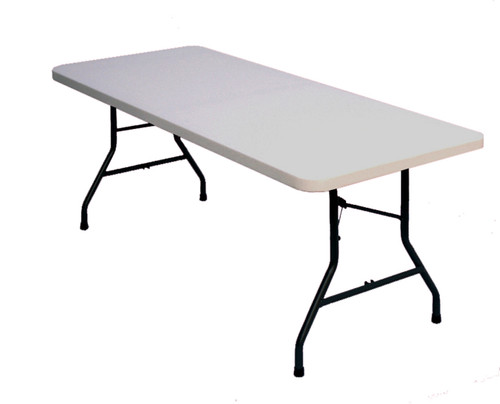 Correll CP3096 Rectangle Economy Blow Molded Folding Table - White - 30 x 96