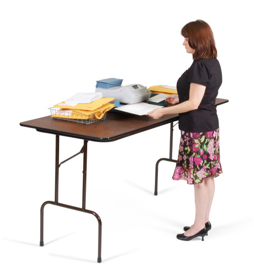 Correll CFS3072PX Plastic Counter Height Folding Table