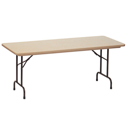 Correll RX2448 Gray Tamper Resistant Correctional Facility Folding Table