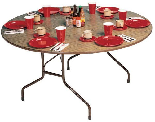 Correll PC60P 5-ft Round Wooden Folding Table